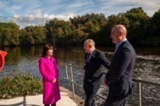 Minister Nicola Mallon, Paddy Harney, Niall McGill